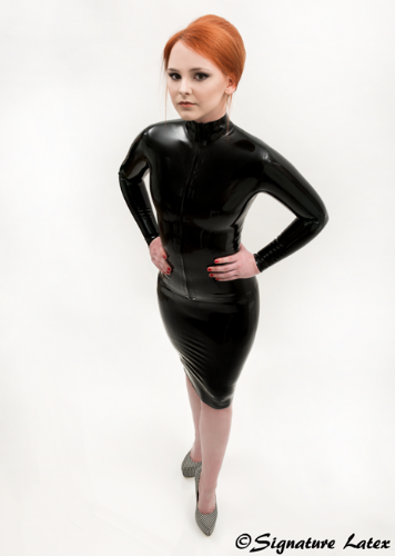 Latex Pencil skirt with a choice of length's
